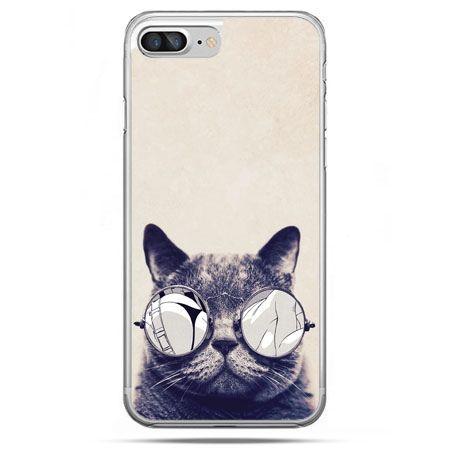 Etui na telefon iPhone 8 Plus - kot w okularach