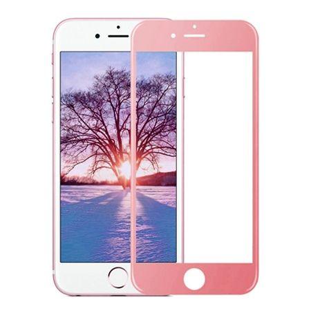 Hartowane szkło na cały ekran 3d iPhone 8 Plus - Różowy.