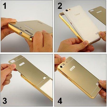 Mirror bumper case na iPhone 8 - Złoty.