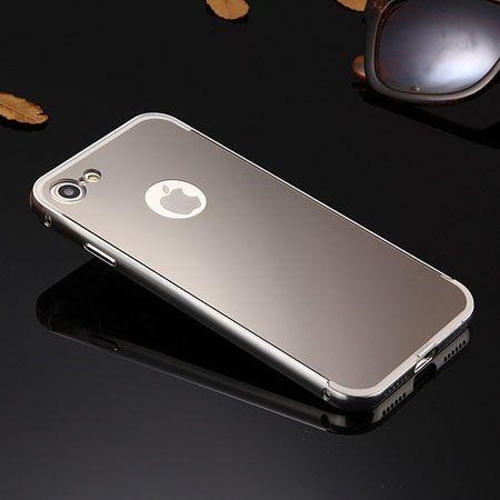 Mirror bumper case na iPhone 8 - Srebrny.