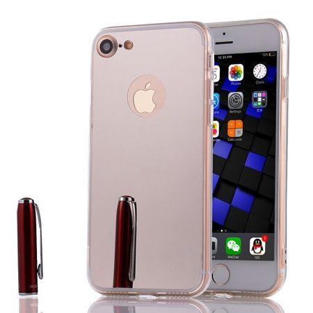 iPhone 8 mirror - lustro silikonowe etui lustrzane TPU - Srebrny.