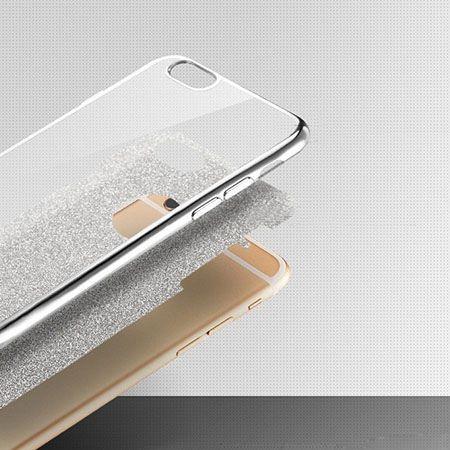 iPhone 8 etui Brokat silikonowe platynowane SLIM tpu - Złoty.