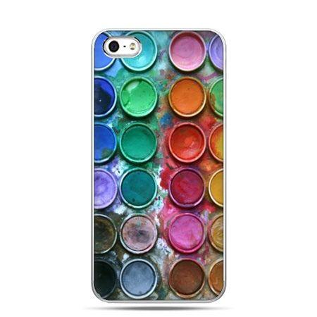 iPhone 5 , 5s etui na telefon kolorowe farbki