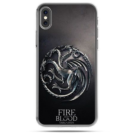 Etui na telefon iPhone X - Gra o Tron Targaryen house herb