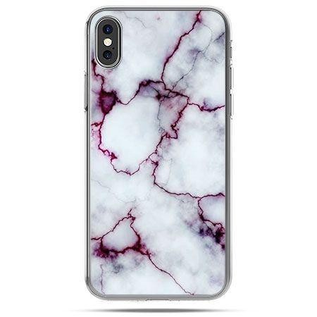 Etui na telefon iPhone X - różowy marmur