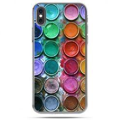 Etui na telefon iPhone X - kolorowe farbki