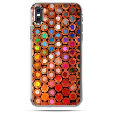Etui na telefon iPhone X - kolorowe kredki