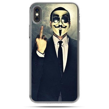 Etui na telefon iPhone X - Anonimus Fuck You