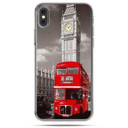 Etui na telefon iPhone X - czerwony autobus londyn