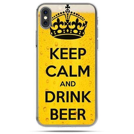 Etui na telefon iPhone X - Keep calm and drink beer
