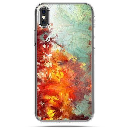 Etui na telefon iPhone X - kolorowy obraz