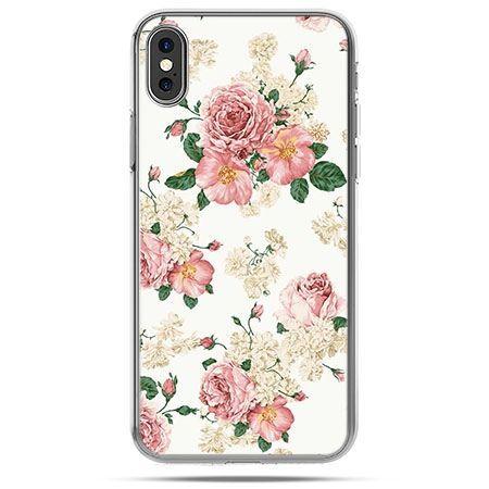 Etui na telefon iPhone X - polne kwiaty
