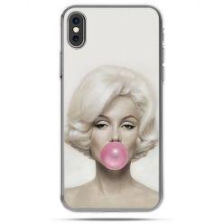 Etui na telefon iPhone X - Monroe z gumą balonową