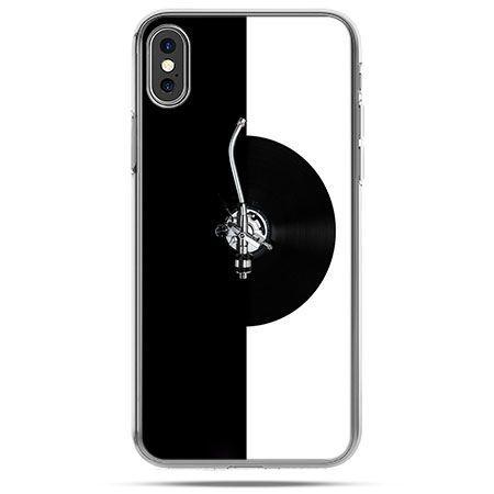 Etui na telefon iPhone X - gramofon