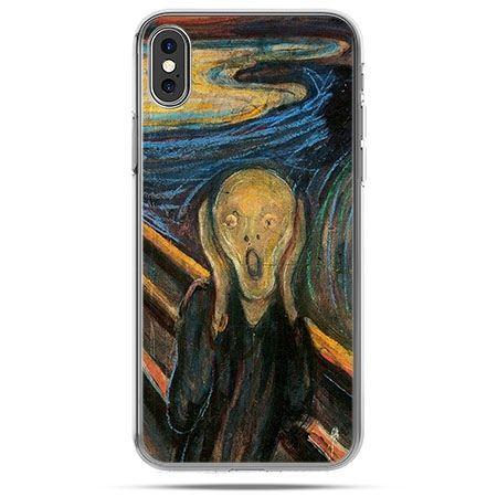 Etui na telefon iPhone X - Krzyk Munka