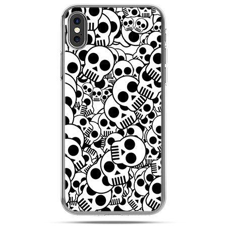 Etui na telefon iPhone X - czaszki