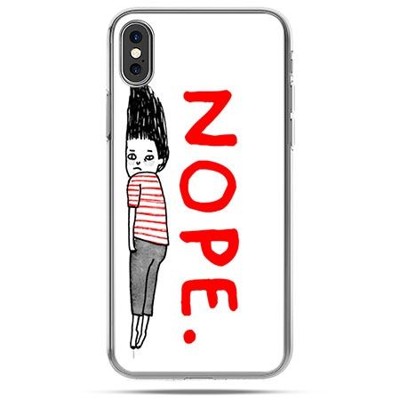 Etui na telefon iPhone X - Nope