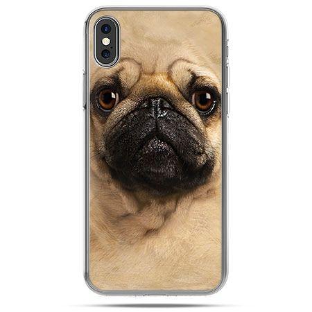 Etui na telefon iPhone X - pies szczeniak Face 3d