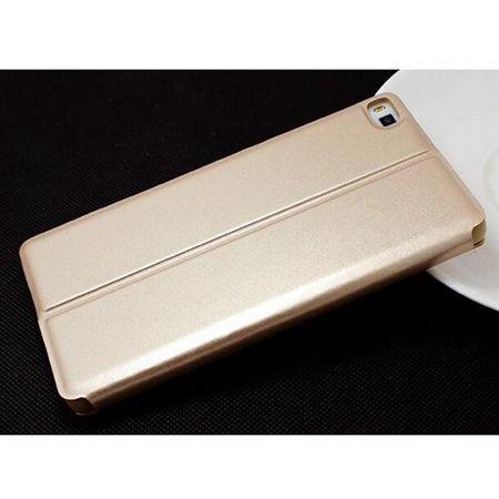 Etui na Huawei P8 Flip S View z klapką - Złoty.