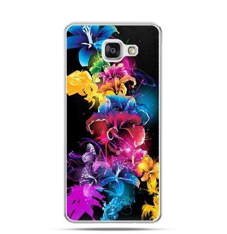 Etui na Samsung Galaxy A3 (2016) A310 - kolorowe kwiaty