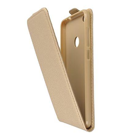 Etui na telefon Huawei P9 Lite 2017 - kabura z klapką - Złoty.