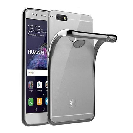 Huawei P9 Lite mini -  etui silikonowe platynowane SLIM tpu - Grafitowy.