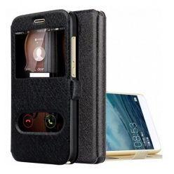 Etui na Huawei P9 Lite mini - Flip Quick View z klapką dwa okienka - Czarny.