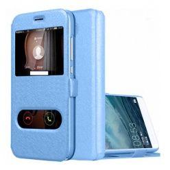 Etui na Huawei P9 Lite mini -  Flip Quick View z klapką dwa okienka - Niebieski.
