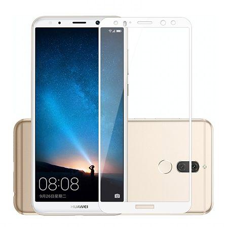 Hartowane szkło na cały ekran 3d Huawei Mate 10 Lite - Biały.