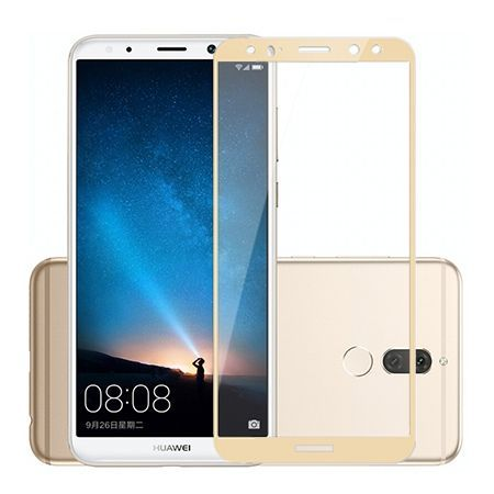 Hartowane szkło na cały ekran 3d Huawei Mate 10 Lite - Złoty.