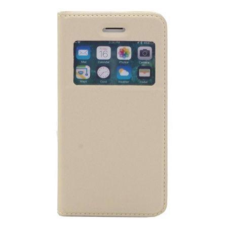 Etui na iPhone 7 - S View z klapką - Złoty.