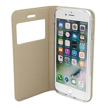 Etui na iPhone SE -  S View z klapką - Złoty.