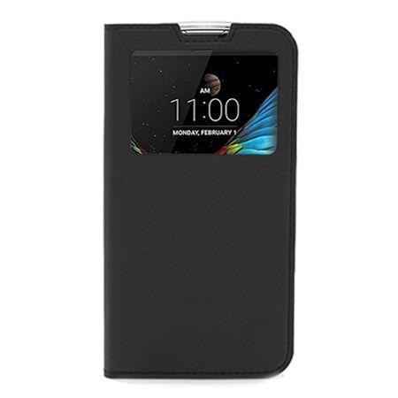 Etui na LG K10 - S View z klapką - Czarny.