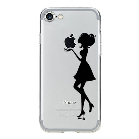 Etui na iPhone 7 silikonowe Ultra Slim przezroczyste - Kobieta.