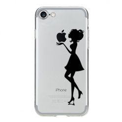 Etui na iPhone 8 silikonowe Ultra Slim przezroczyste - Kobieta.