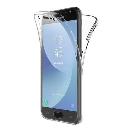 Etui na Galaxy J3 2017 silikonowe 360 Full przód i tył - przezroczyste - Promocja !!!