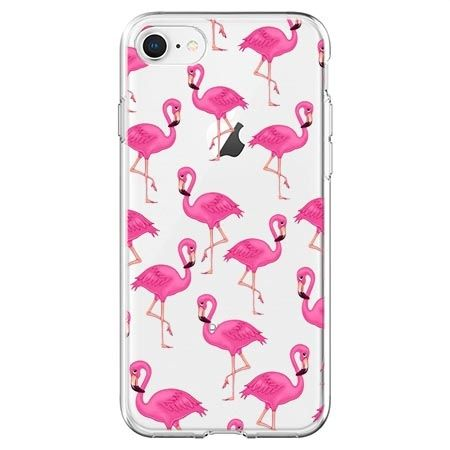 Etui na telefon - różowe flamingi.