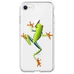 Etui na telefon - zielona żabka.