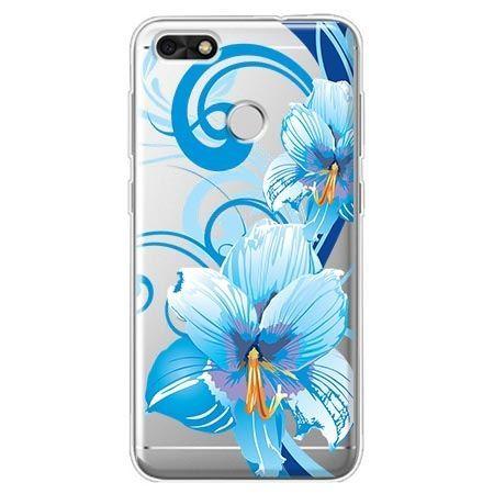 Etui na Huawei P9 Lite mini - niebieski kwiat północy.