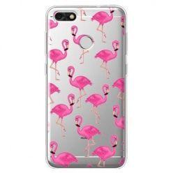 Etui na Huawei P9 Lite mini - różowe flamingi.
