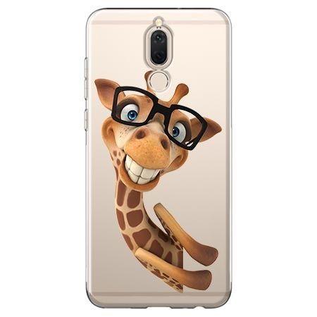Etui na Huawei Mate 10 lite - wesoła żyrafa w okularach.