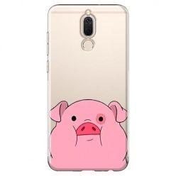 Etui na Huawei Mate 10 lite - słodka różowa świnka.