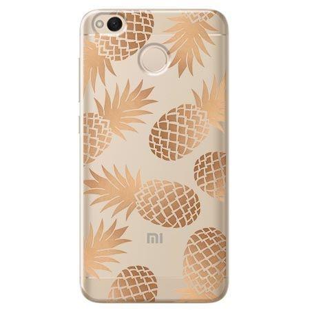 Etui na Xiaomi Redmi 4X - złote ananasy.