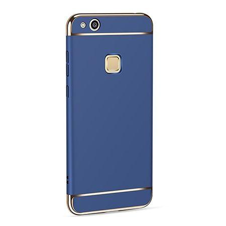 Etui na telefon Huawei P10 Lite - Slim MattE Platynowane - Granatowy.