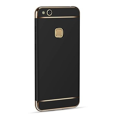 Etui na telefon Huawei P10 Lite - Slim MattE Platynowane - Czarny.