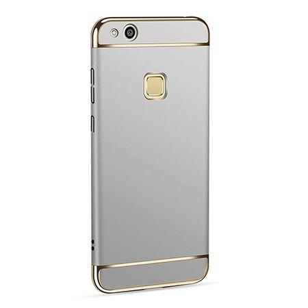 Etui na telefon Huawei P10 Lite - Slim MattE Platynowane - Srebrny.