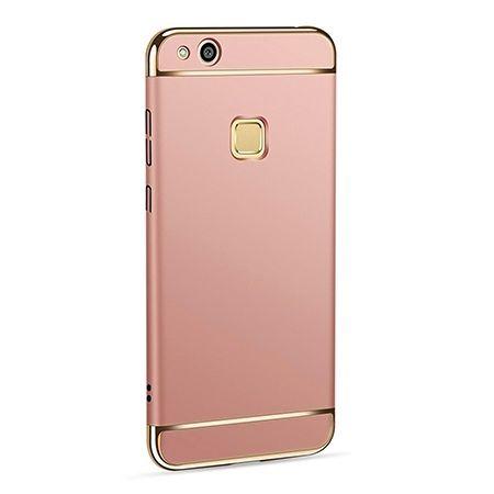 Etui na telefon Huawei P10 Lite - Slim MattE Platynowane - Różowy.