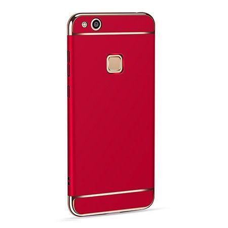 Etui na telefon Huawei P10 Lite - Slim MattE Platynowane - Czerwony.