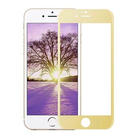 Hartowane szkło na cały ekran 3d iPhone 5 / 5s  - Złoty.