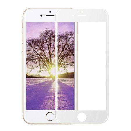 Hartowane szkło na cały ekran 3d iPhone 5 / 5s  - Biały.